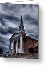 Steeple In The Sky Greeting Card