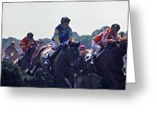 Steeplechase - 3 Greeting Card