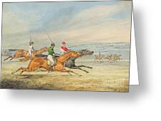 Steeplechasing Greeting Card by Henry Thomas Alken