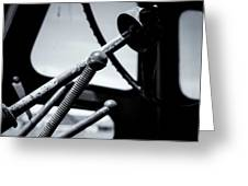 Steering Column Of Direction Greeting Card