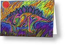 Stegasaurus Colorado Greeting Card