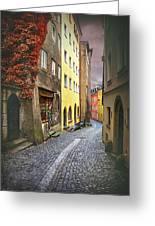 Steingasse Street Salzburg Austria  Greeting Card