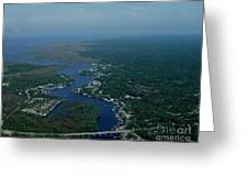 Steinhatchee Arial View Greeting Card