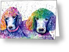 Stella And Violet Greeting Card