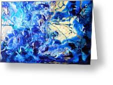 Stellar Blue Tides Greeting Card
