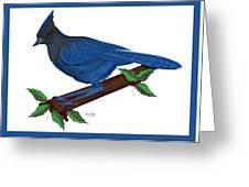 Stellari In Blue Greeting Card