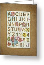 Stencil Alphabet Fun Greeting Card