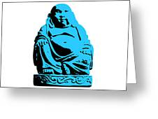 Stencil Buddha Greeting Card