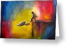 Step Of Faith Greeting Card