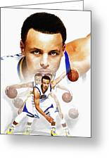 Steph Curry 2017 Profile Greeting Card