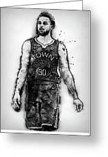 Steph Curry, Golden State Warriors - 18 Greeting Card