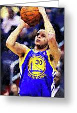 Steph Curry, Golden State Warriors - 19 Greeting Card
