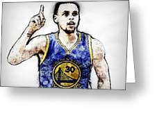 Steph Curry, Golden State Warriors - 20 Greeting Card