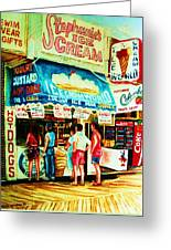 Stephanies Icecream Stand Greeting Card