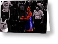 Stephen Curry Sweet Victory Greeting Card