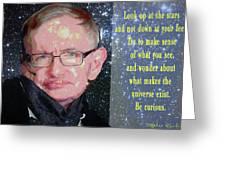Stephen Hawking Poster Greeting Card