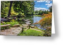 Stepping Stones Japanese Garden Maymont Greeting Card