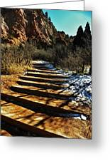 Steps And Shadows Greeting Card