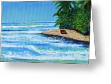 Steps Beach, Rincon Greeting Card