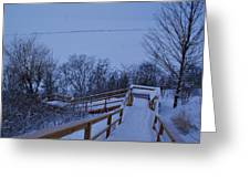 Steps Into Winter Greeting Card