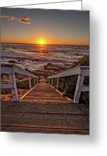 Steps To The Sun  Greeting Card by Peter Tellone
