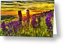 Steptoe Lupine  Greeting Card
