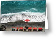 ...stessa Spiaggia... Stesso Mare...  ...the Same Beach... The Same Sea... Greeting Card