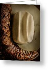 Stetson Hat And Cowboy Boot  Greeting Card