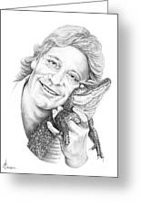 Steve Irwin Crocodile Hunter Greeting Card
