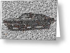 Steve Mcqueen Bullit Mosaic Greeting Card