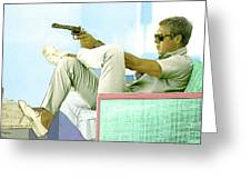 Steve Mcqueen, Colt Revolver, Palm Springs, Ca Greeting Card