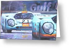 Steve Mcqueen Le Mans Porsche 917 01 Greeting Card