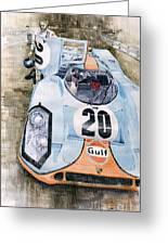 Steve Mcqueens Porsche 917k Le Mans Greeting Card by Yuriy  Shevchuk