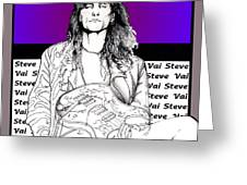 Steve Vai Sitting Greeting Card