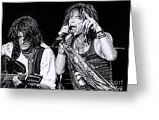 Steven Tyler Croons Greeting Card by Traci Cottingham