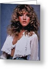 Stevie Nicks In Curls Greeting Card