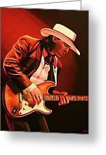 Stevie Ray Vaughan Painting Greeting Card