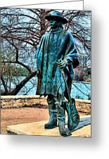 Stevie Ray Vaughan Vibrant Colors Greeting Card