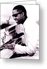 Stevie Wonder Autographed Greeting Card