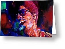 Stevie Wonder Greeting Card by David Lloyd Glover