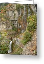 Stewart Falls In Autumn Greeting Card