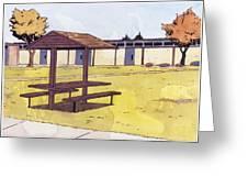 Sticker Landscape 1 Schoolyard Greeting Card