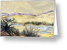 Sticker Landscape 3 Desert Greeting Card