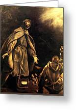 Stigmatisation Of St Francis Greeting Card