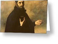 St.ignatius Loyola Greeting Card by Francisco de Zurbaran
