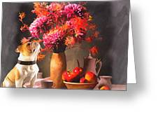 Still - Floral And Fruit Greeting Card