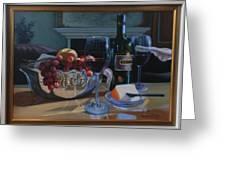 Still Life 9, Wine  Greeting Card