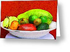 Still Life Art With Fruits Greeting Card