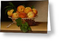 Still Life - Basket Of Peaches Greeting Card