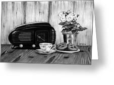 Still Life, Breakfast Greeting Card